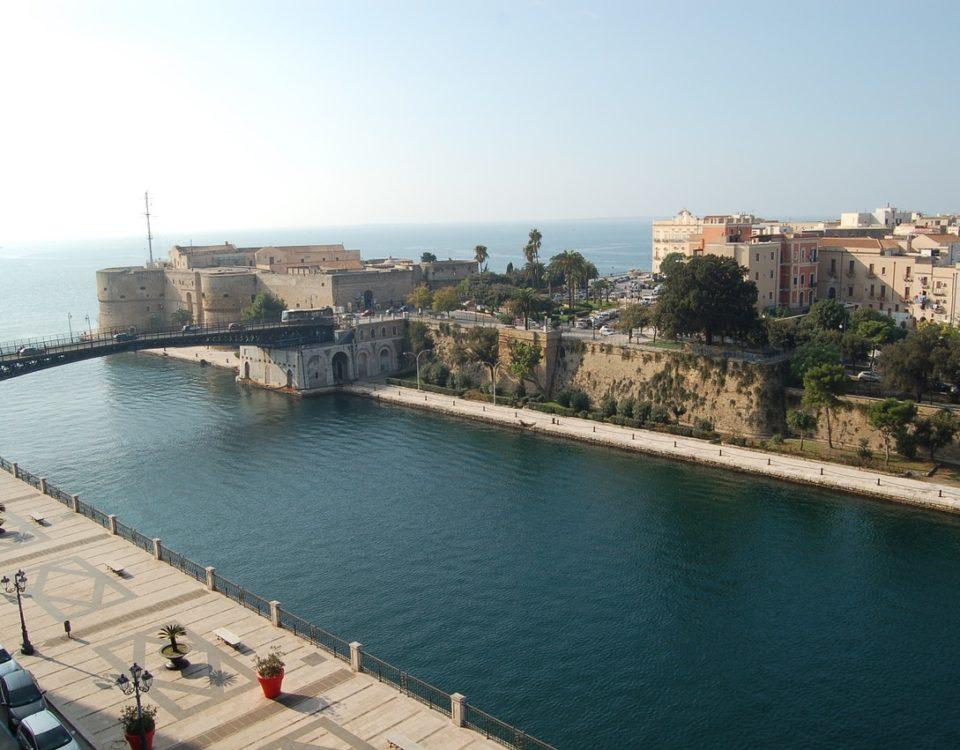 La splendida Taranto, dove ieri, è occorso un incidente sul luogo di lavoro