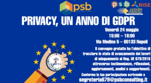 Privacy, un anno di GDPR